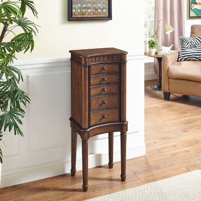 Walnut Jewelry Armoire Grace RC Willey Furniture Store