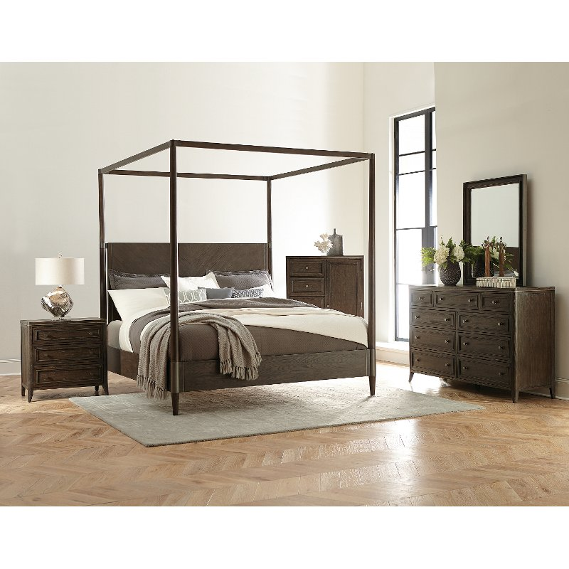 Modern Carbon Gray 7 Piece King Bedroom Set Joelle Rc Willey