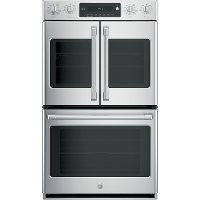 CT9570SLSS Cafe 30 Inch French Door Smart Double Wall Oven - 10 cu. ft. Stainless Steel
