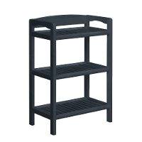 Graphite Solid Wood Low Bookcase-Media Tower