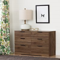 11281 Modern Farmhouse Walnut Dresser - Holland