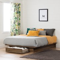 11283 Modern Farmhouse Walnut Full-Queen Platform Bed - Holland