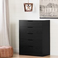 11292 Modern Farmhouse Black Oak Chest of Drawers - Holland