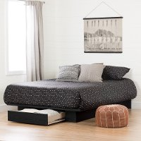 11293 Modern Farmhouse Black Full-Queen Platform Bed - Holland