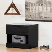 11294 Modern Farmhouse Black Oak Nightstand - Holland