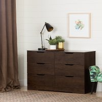 11158 Modern Farmhouse Brown Oak Dresser - Holland