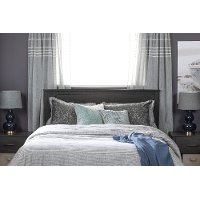 11316 Gray Oak Full/Queen Headboard - Fusion