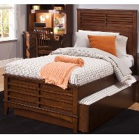 Classic Tobacco Brown Twin Panel Bed - Chelsea Square