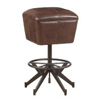 Brown Upholstered 30  Bar Stool - Conversation