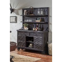 Dark Brown Dining Room Buffet and Hutch - Conversation