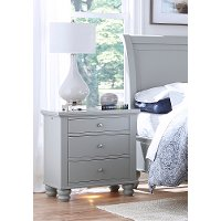 Classic Traditional Gray Nightstand - Cambridge