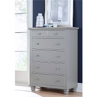Classic Traditional Gray Chest of Drawers - Cambridge