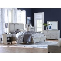 Classic Gray 4 Piece King Bedroom Set - Cambridge