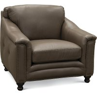6590/BILLINGHAM/CH Classic Modern Clay Brown Leather Chair - Billingham