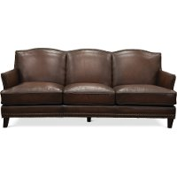 6589/MANCHESTER/SO Traditional Brown Leather Sofa - Manchester