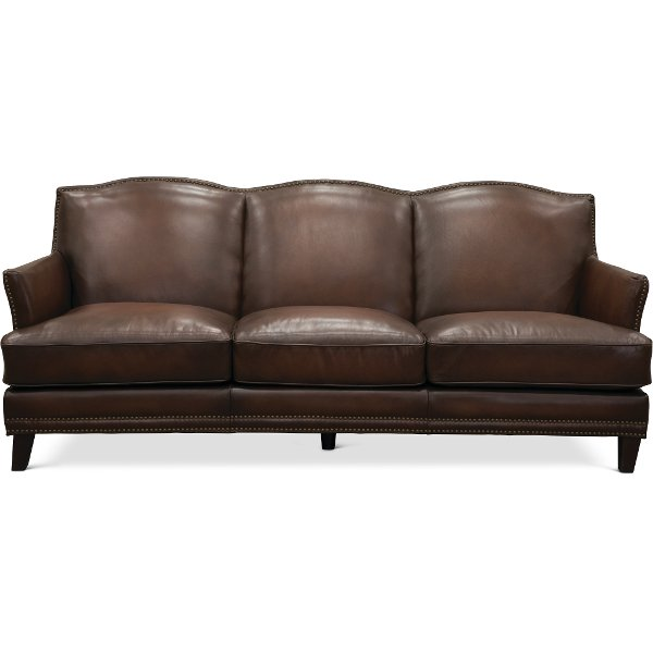 ... 6589/MANCHESTER/SO Traditional Brown Leather Sofa   Manchester