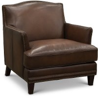 6589/MANCHESTER/CH Traditional Brown Leather Chair - Manchester