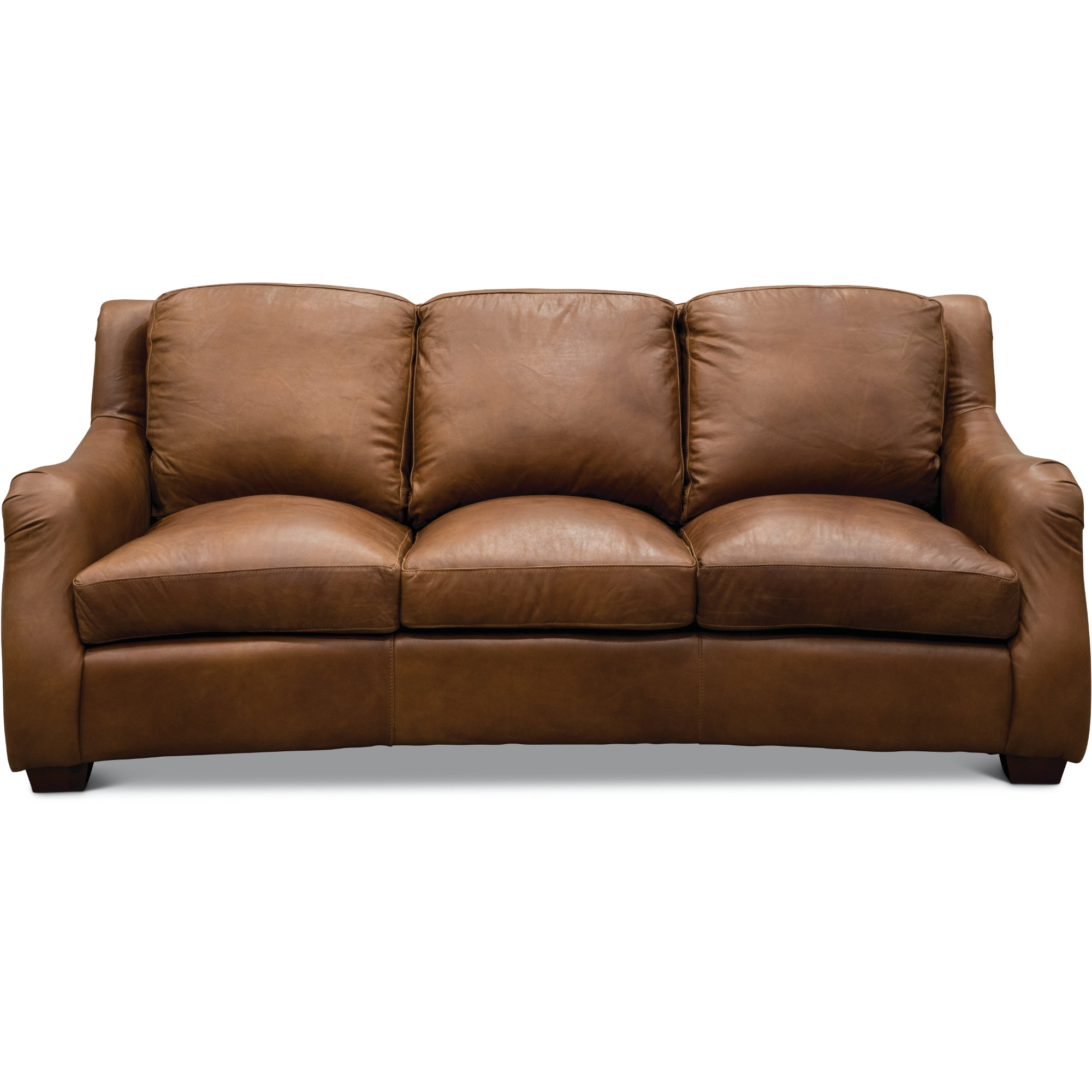 ... Traditional Natural Brown Leather Sofa   Carmel