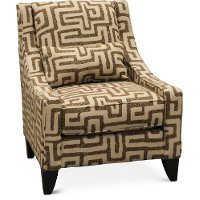 Contemporary Walnut Brown Accent Chair - Renegade