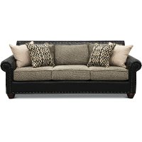 Rustic Traditional Black and Brown Sofa - Marksman