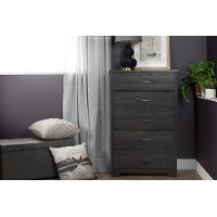 11317 Gray Oak Chest of Drawers - Fusion