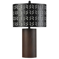 Metal Table Lamp with Laser Cut Metal Layered Shade