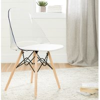 100275 Clear and White Eiffel Style Chair - Annexe