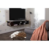 11246 Brown 66 inch Wall Mounted Media Console - City Life
