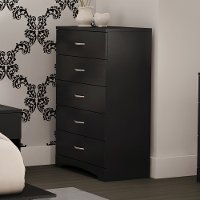 11279 Black Tall Chest of Drawers - Step One