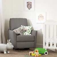 100255 Casual Gray Nursery Rocker - Cotton Candy
