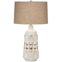 Beige Almond Ceramic Table Lamp - Kiowa