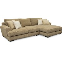 Casual Contemporary Beige 2 Piece Sectional Sofa - Baltic