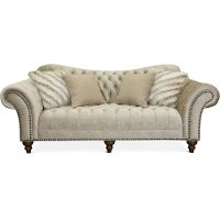 Traditional Golden Sand Embossed Velvet Sofa - Lorraine