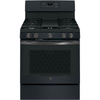 JGB700FEJDS GE 30  Free-Standing Gas Convection Range - Black