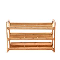 4-Tier Shoe Rack Tower Shelf with Umbrella Stand - Natural Bamboo