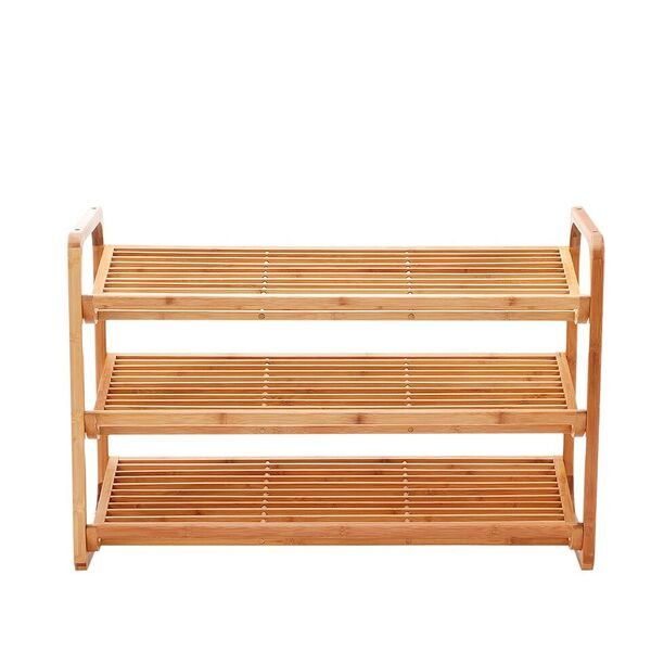 ... 4 Tier Shoe Rack Tower Shelf With Umbrella Stand   Natural Bamboo