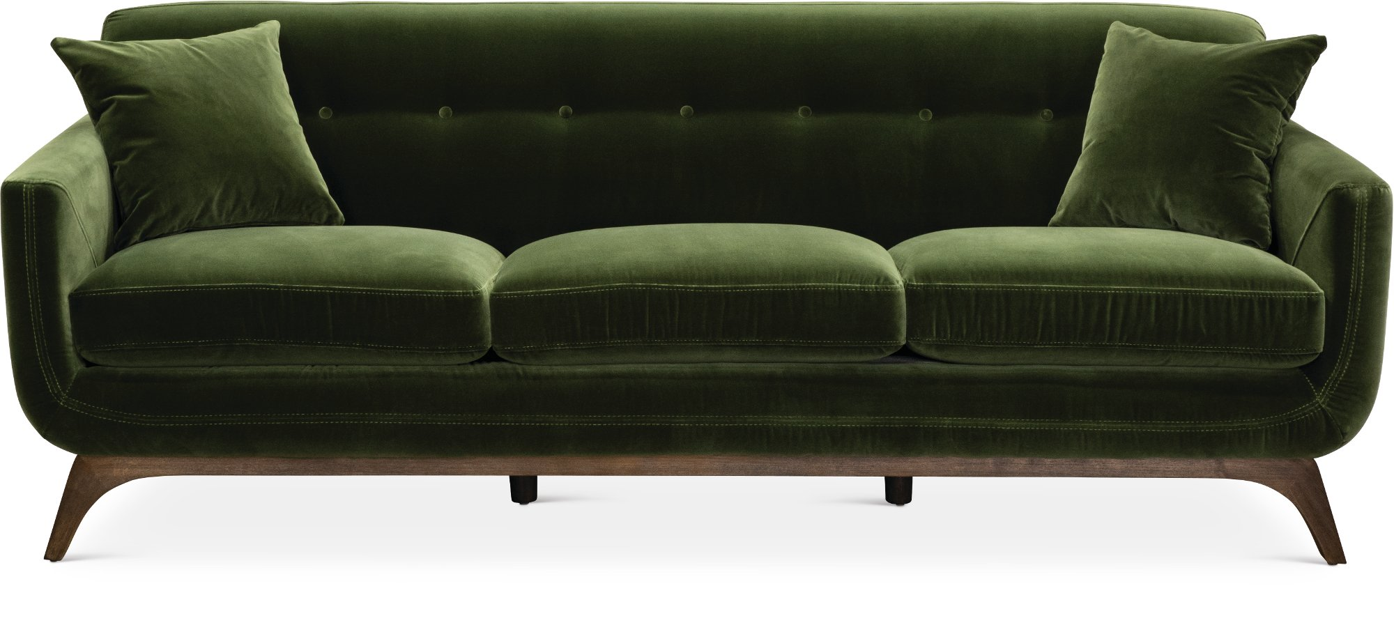 Mid Century Modern Olive Green Sofa Falkirk Rc Willey Furniture