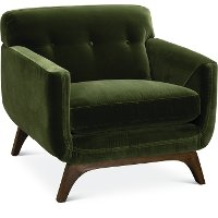 Mid Century Modern Olive Green Chair - Falkirk