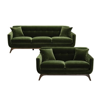 Mid Century Modern Olive Green Sofa - Falkirk   RC Willey Furniture ...