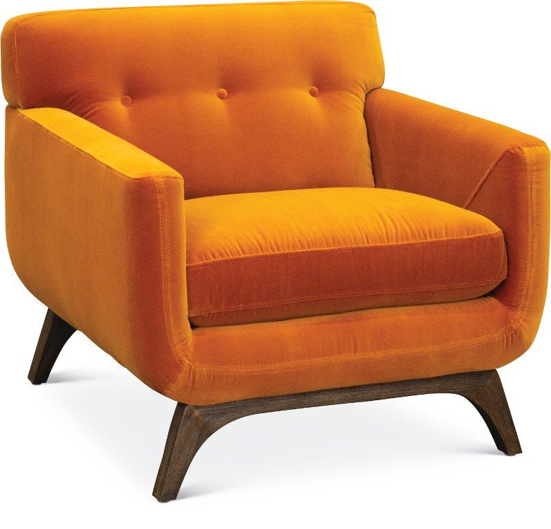 Mid Century Modern Amber Orange Chair Falkirk