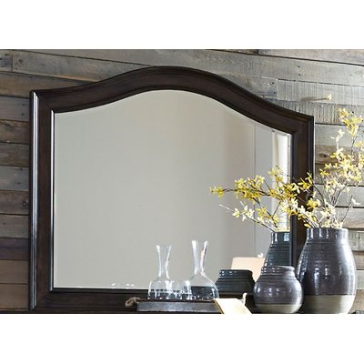 Traditional Dark Brown Mirror - Catawba