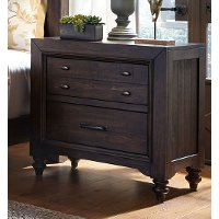 Traditional Dark Brown Nightstand - Catawba