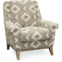 Casual Contemporary Flax Tan Accent Chair - Bowie