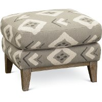 Casual Contemporary Flax Tan Accent Ottoman - Bowie