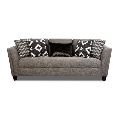 Modern Contemporary Gray Sofa - Carbon