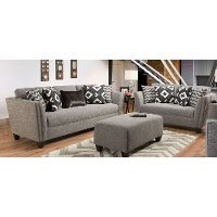Modern Contemporary Gray 2 Piece Living Room Set - Carbon