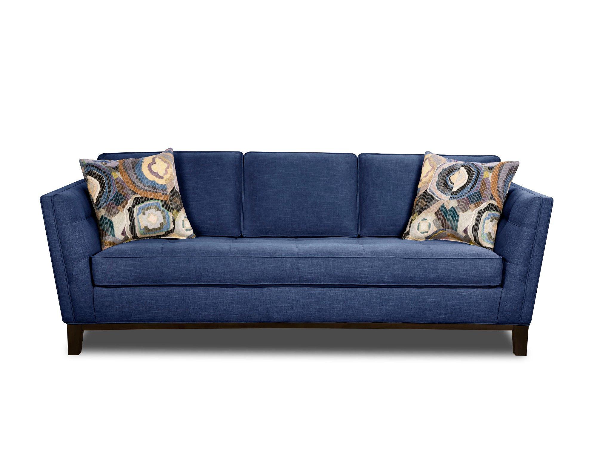 Modern Blue Sofa Modern Contemporary Cobalt Blue Sofa