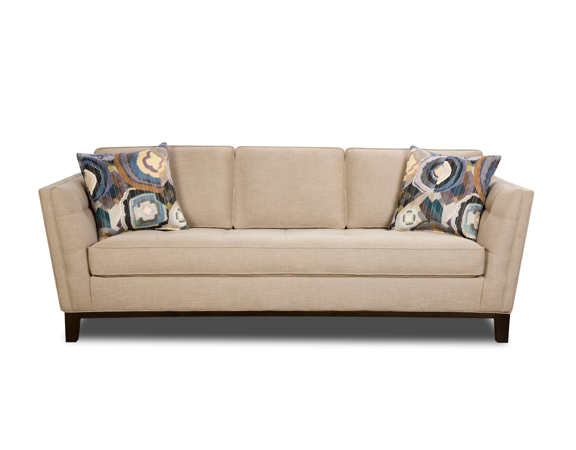 Mid-Century Modern Taupe 2 Piece Living Room Set - Patchquilt | RC ...