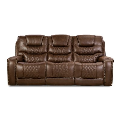 Chocolate Brown Power Sofa - Desert