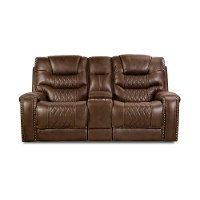 Chocolate Brown Power Loveseat - Desert